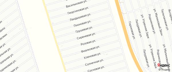 Сиреневая улица на карте территории Колягинские холмы-Колягино-2 с номерами домов