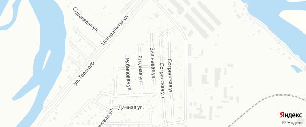 Вишневая улица на карте территории Нижней Согра-Водника с номерами домов