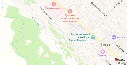 Набережная улица в Чадане с номерами домов на карте. Спутник и схема онлайн