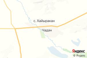 Карта г. Чадан Республика Тыва