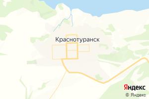 Карта с. Краснотуранск