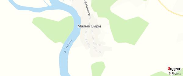 Карта деревни Малые Сыры в Красноярском крае с улицами и номерами домов