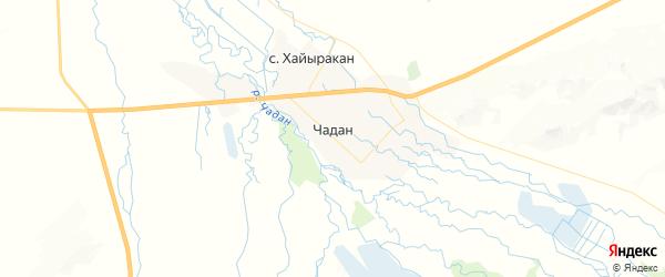 Карта Чадана с районами, улицами и номерами домов