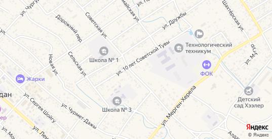 Улица Лермонтова в Чадане с номерами домов на карте. Спутник и схема онлайн