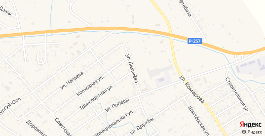 Улица Лихачева в Чадане с номерами домов на карте. Спутник и схема онлайн