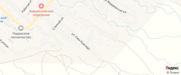 Оросительная улица на карте Чадана с номерами домов