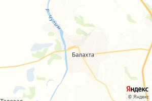 Карта пос. Балахта Красноярский край
