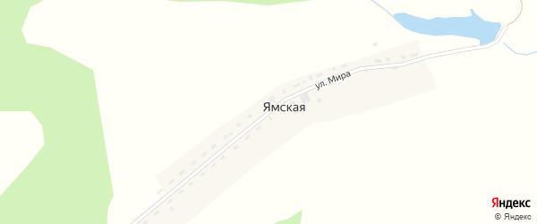 Улица Мира на карте Ямской деревни Красноярского края с номерами домов