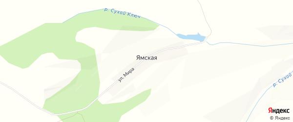 Карта Ямской деревни в Красноярском крае с улицами и номерами домов