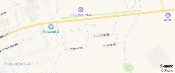 Восточный переулок на карте поселка Балахты Красноярского края с номерами домов