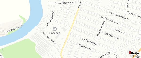 Береговая улица на карте Минусинска с номерами домов