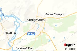Карта г. Минусинск Красноярский край