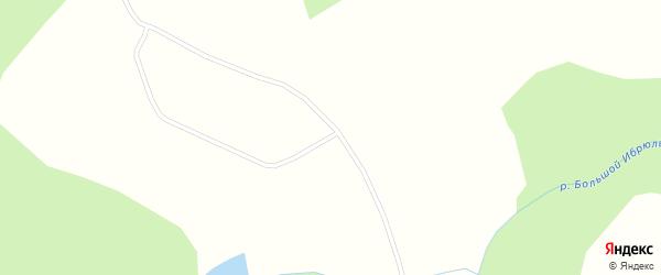 Придорожная улица на карте деревни Антоновки Красноярского края с номерами домов