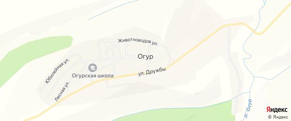 Карта села Огура в Красноярском крае с улицами и номерами домов