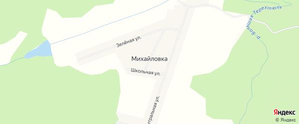 Карта села Михайловки в Красноярском крае с улицами и номерами домов