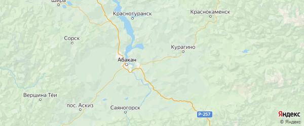 Карта Минусинского района Красноярского края с городами и населенными пунктами