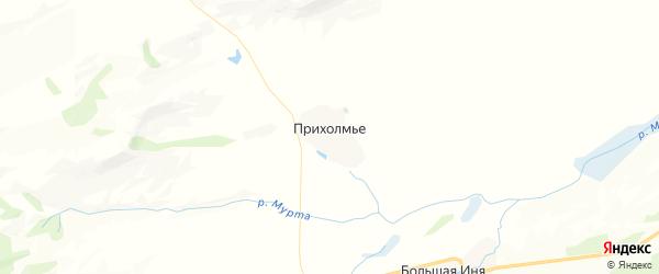 Карта Прихолмского сельсовета Красноярского края с районами, улицами и номерами домов