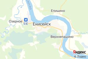 Карта г. Енисейск