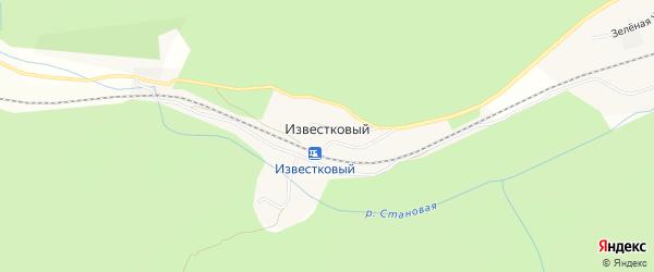 Карта Известкового поселка в Красноярском крае с улицами и номерами домов