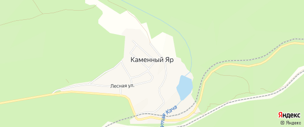 Карта поселка Каменного Яра в Красноярском крае с улицами и номерами домов