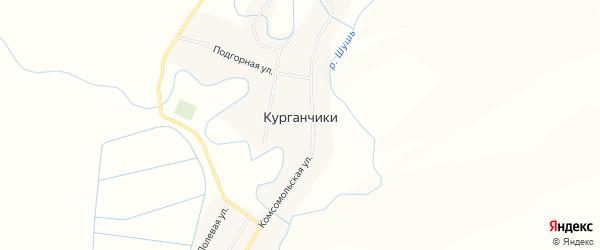 Карта деревни Курганчики в Красноярском крае с улицами и номерами домов