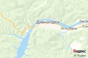Карта г. Дивногорск Красноярский край