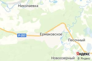 Карта с. Ермаковское Красноярский край
