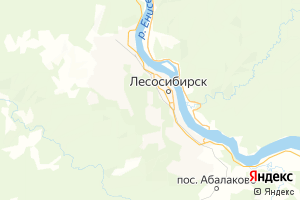 Карта г. Лесосибирск Красноярский край