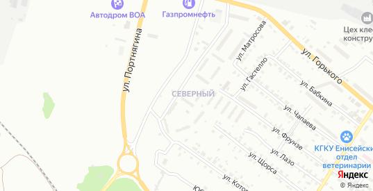 Северный микрорайон в Лесосибирске с номерами домов на карте. Спутник и схема онлайн