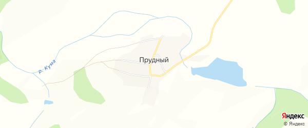 Карта Прудного поселка в Красноярском крае с улицами и номерами домов