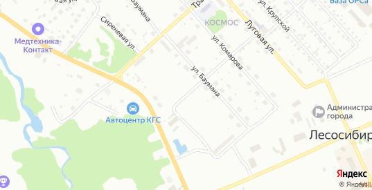 Улица 50 лет Октября в Лесосибирске с номерами домов на карте. Спутник и схема онлайн