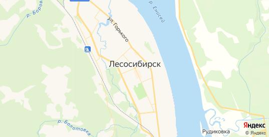 Карта Лесосибирска с улицами и домами подробная. Показать со спутника номера домов онлайн