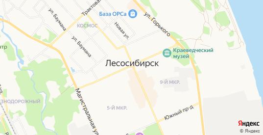 Промышленная зона Южный промышленный узел на карте Лесосибирска с номерами домов
