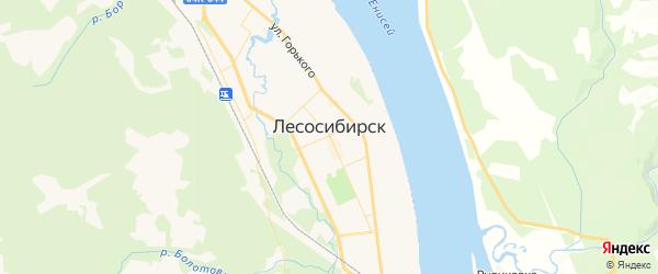Карта Лесосибирска с районами, улицами и номерами домов: Лесосибирск на карте России