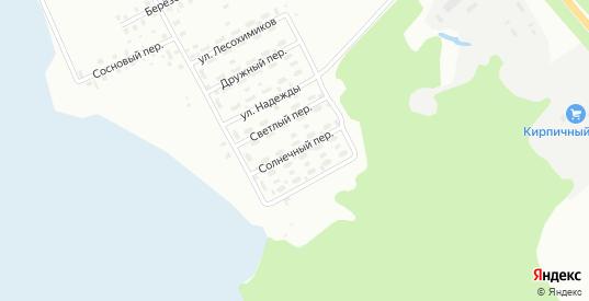 Солнечный переулок в Лесосибирске с номерами домов на карте. Спутник и схема онлайн