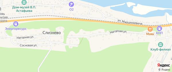 Нагорная улица на карте Известкового поселка Красноярского края с номерами домов