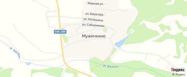 Карта деревни Мужичкино в Красноярском крае с улицами и номерами домов