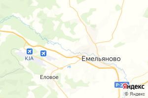 Карта пгт Емельяново Красноярский край