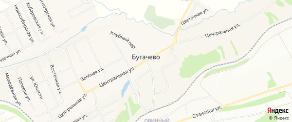 Территория СНТ Экспресс на карте деревни Бугачево Красноярского края с номерами домов