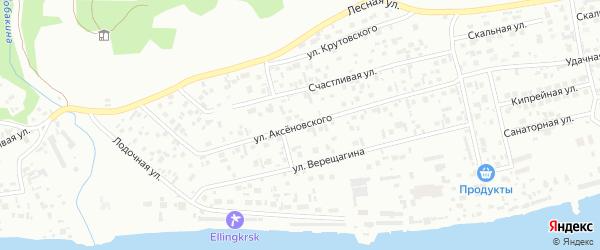 Улица Аксеновского на карте Красноярска с номерами домов