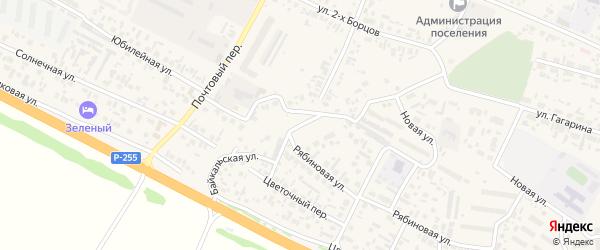 Байкальская улица на карте поселка Емельяново Красноярского края с номерами домов