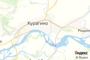 Карта пгт Курагино Красноярский край
