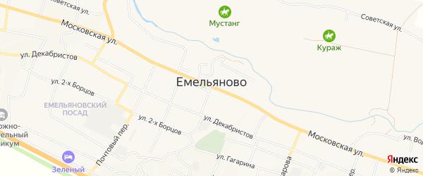 Карта поселка Емельяново в Красноярском крае с улицами и номерами домов