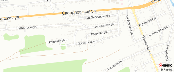 Рощевая улица на карте Красноярска с номерами домов