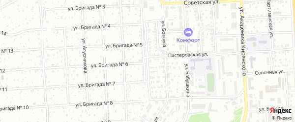 Днепропетровская 1-я улица на карте Красноярска с номерами домов