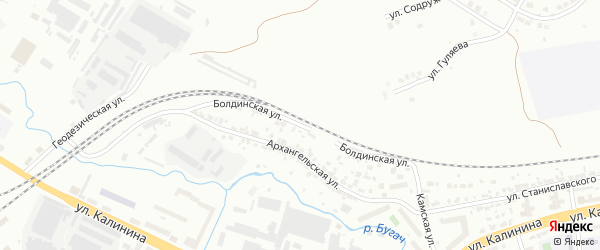 Болдинская улица на карте Красноярска с номерами домов