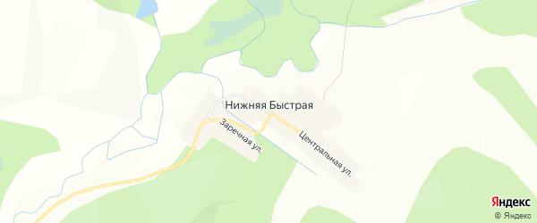 Карта села Нижней Быстрой в Красноярском крае с улицами и номерами домов