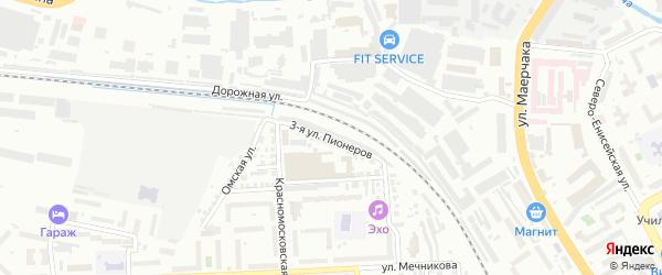 Улица 3-я Пионеров на карте Красноярска с номерами домов