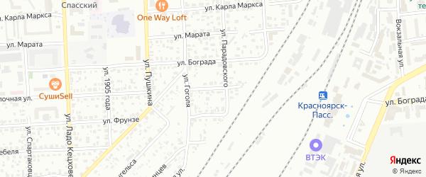 Заливной переулок на карте Красноярска с номерами домов