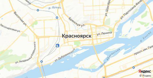 Карта Красноярска с улицами и домами подробная - показать